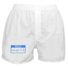 My Name Is Grandpa To Be (Blue) Boxer Shorts