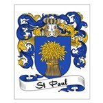 St. Paul Family Crest Small Poster