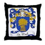 St. Paul Family Crest Throw Pillow