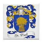 St. Paul Family Crest Tile Coaster