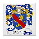 St. Pierre Family Crest Tile Coaster