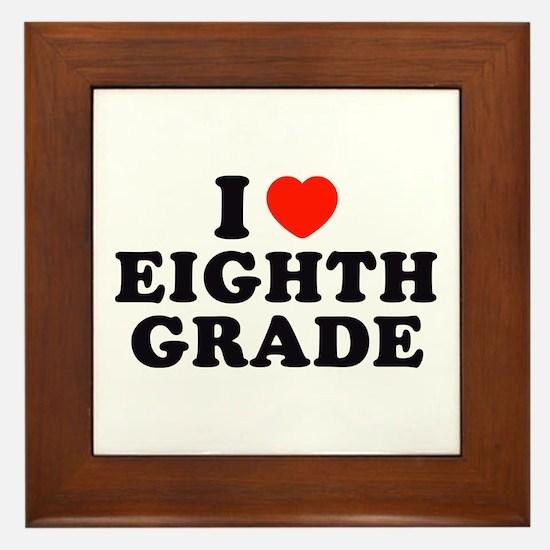 I Heart/Love Eighth Grade Framed Tile