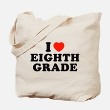I Heart/Love Eighth Grade Tote Bag