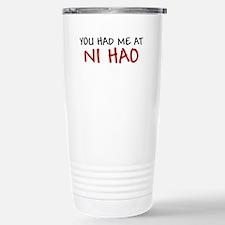 China Shirt You had me at Ni Hao Chinese Hello Cer