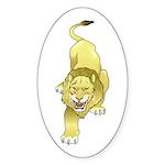 Lion Animal Art Tattoo Oval Sticker (10 pk)