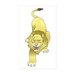Lion Animal Art Tattoo Rectangle Sticker 10 pk)