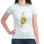 Lion Animal Art Tattoo Jr. Ringer T-Shirt