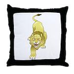 Lion Animal Art Tattoo Throw Pillow