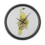 Lion Animal Art Tattoo Large Wall Clock