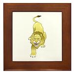 Lion Animal Art Tattoo Framed Tile