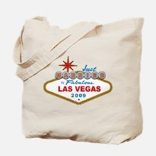 Just Married In Fabulous Las Vegas Sign 2009 Tote