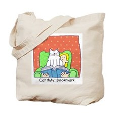Cat Duty: Bookmark Tote Bag