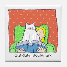 Cat Duty: Bookmark Tile Coaster