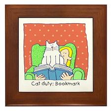 Cat Duty: Bookmark Framed Tile