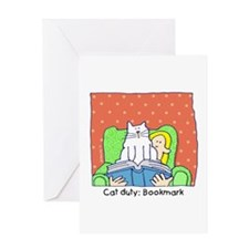 Cat Duty: Bookmark Greeting Card