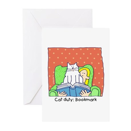 Cat Duty: Bookmark Greeting Cards (Pk of 10)