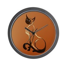 Sitting Siamese Wall Clock