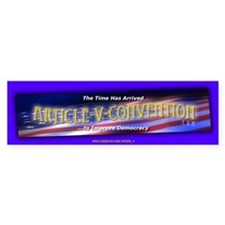 Article-V-Convention.com Bumper Car Sticker