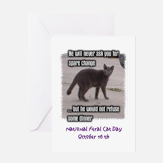National Feral Cat Day Greeting Card