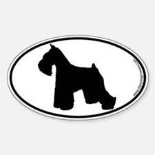 Miniature Schnauzer SILHOUETTE Oval Decal