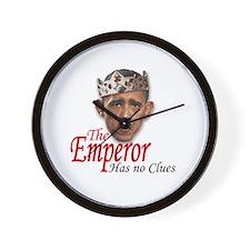 Emperor Has No Clues Wall Clock
