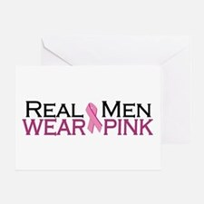 Real Men Wear Pink Greeting Card