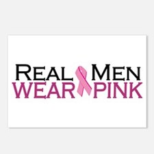 Real Men Wear Pink Postcards (Package of 8)