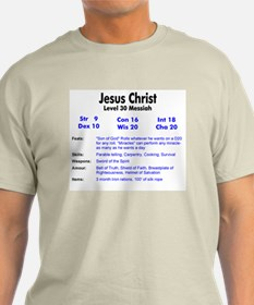 Jesus RPG Stats Ash Grey T-Shirt