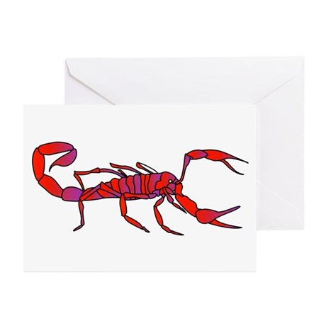 Scorpion Animal Art Tattoo Greeting Cards (Pk of 2