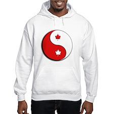 yinyang redwhite Hoodie
