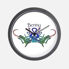 Benny's Celtic Dragons Name Wall Clock