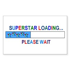SUPERSTAR LOADING... Rectangle Decal
