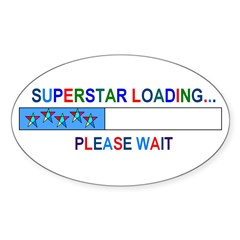SUPERSTAR LOADING... Oval Decal