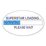 SUPERSTAR LOADING... Oval Sticker
