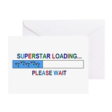 SUPERSTAR LOADING... Greeting Card
