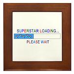 SUPERSTAR LOADING... Framed Tile