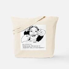 Cute Wide open! Tote Bag