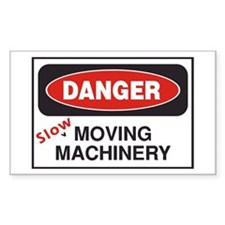 Danger Slow Moving Rectangle Decal