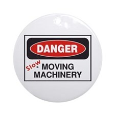 Danger Slow Moving Ornament (Round)