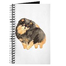 Blk. & Tan Pomeranian Fullbod Journal