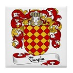 Turpin Family Crest Tile Coaster