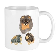 Blk. & Tan Pomeranian Collage Mug