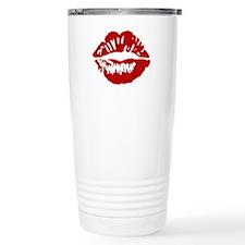 Red Lips / Lipstick Kiss Travel Mug