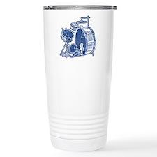 Vintage Drum Set Travel Coffee Mug