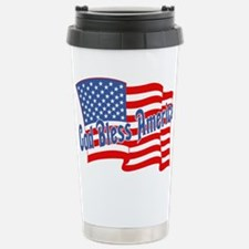 GOD BLESS AMERICA July 4th Stainless Steel Travel