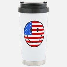 4th Of July Happy Smile Stainless Steel Travel Mug