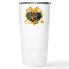 Squirrely Squirrel Crest Travel Mug