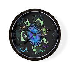 Spiral Turtles Wall Clock