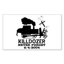 Killdozer Never Forget Rectangle Decal