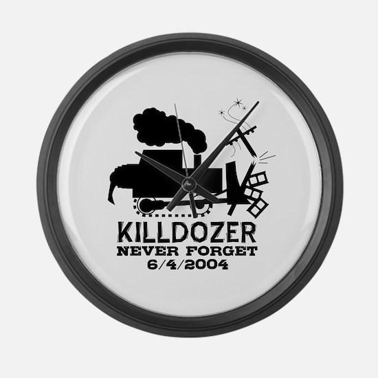 Killdozer Never Forget Large Wall Clock